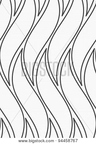 Flat Gray With Wavy Shapes