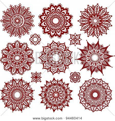 Set of Round Ornament Patterns