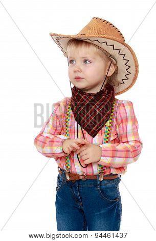 Little girl is a cowboy