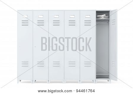 Grey Metal Lockers