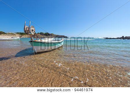 Little Boat In A Bay