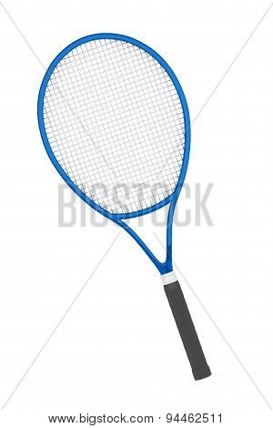 Blue Closeup Tennis Racket