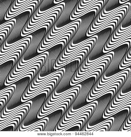Gray Diagonal Wavy Texture With Gradient