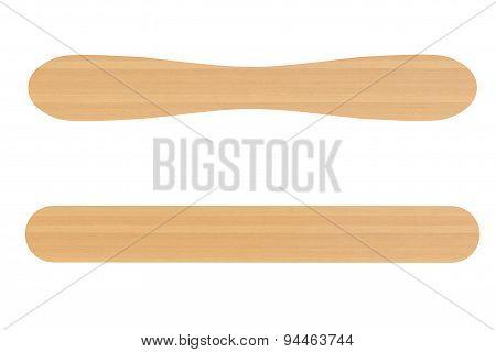 Two Wooden Ice Cream Sticks