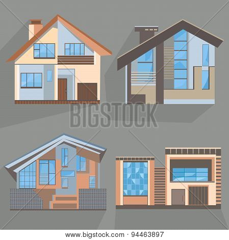 Building flat style home, office, cottage, shop