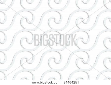 Paper White Solid Spiral Waves