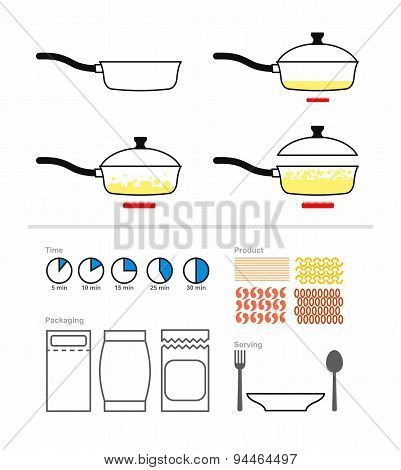 Cooking instruction with a frying pan. FRY on griddle. Set for manual cooking. Boiling oil. Includes