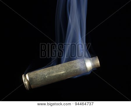 Empty Cartridge That Is Smoking