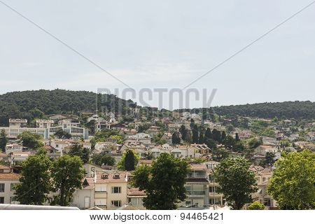 Rural Coastal Hillside With Luxury Housing