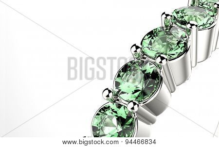Ring with emerald. Jewelry background