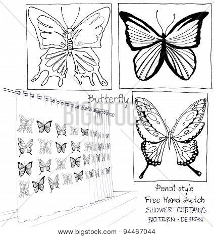 Shower Curtain Butterfly