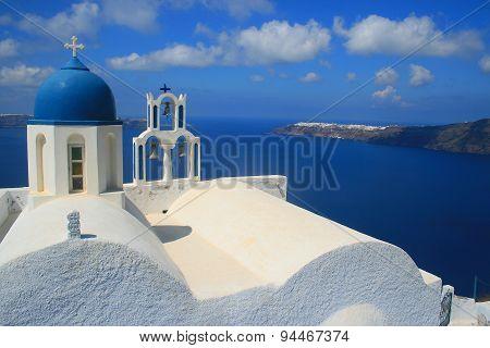 Santorini, Greece - View from Chapel on Skaros Rock