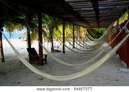 Hammocks Awaiting in Cozumel, Mexico