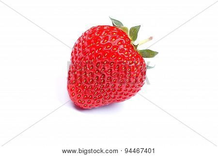 Strawberry Isolated On A White Background, With Shadow, Side View