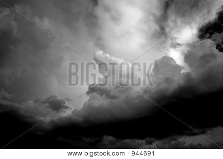 High Contrast Storm Cloud Hands