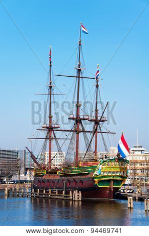 Scaled replica of The Amsterdam VOC ship