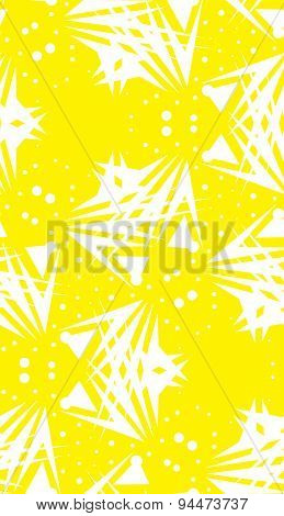 Yellow Dots And Triangle Shapes