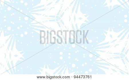 Seamless Pattern Of White Abstract Snowflakes