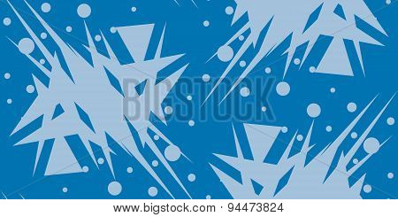 Blue Shattered Triangular Shapes