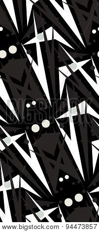 Black Abstract Seamless Pattern