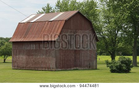 The Faded Red Barn