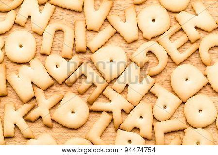 Baked word cookie