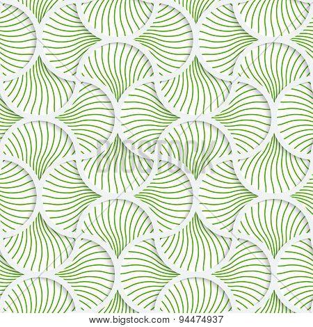 3D Green Wavy Striped Pin Will Grid