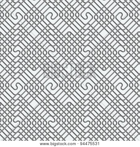 Perforated Square Overlapping Spirals