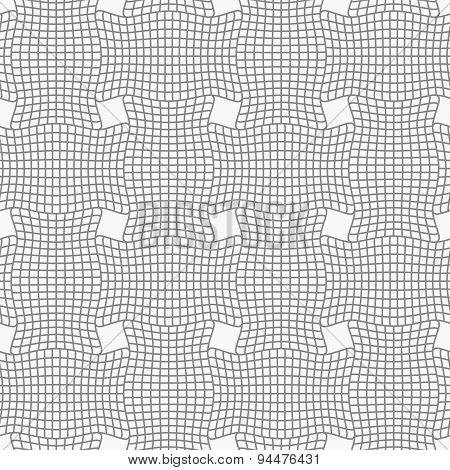Slim Gray Checkered Wavy Rectangles