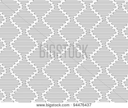 Slim Gray Connecting Vertical Diamond Waves