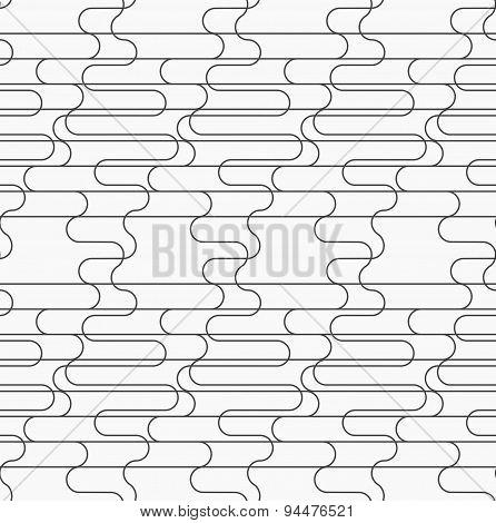 Slim Gray Overlapping Waves