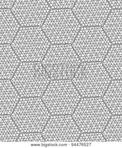 Slim Gray Scribbled Hexagons