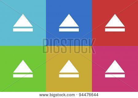 open vector flat web icons set  original modern design for web and mobile app