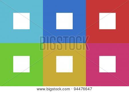 stop vector flat web icons set  original modern design for web and mobile app