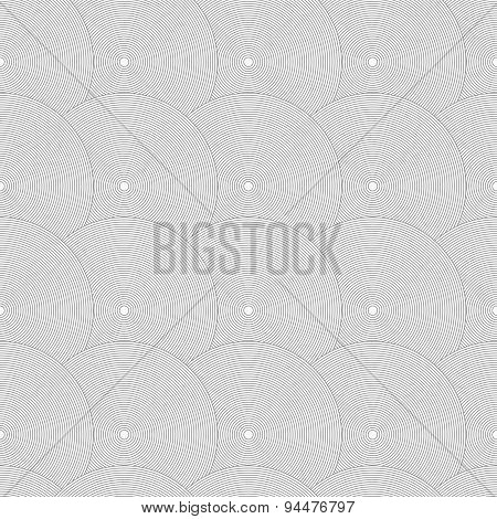 Slim Gray Striped Overlapped Circles In Row