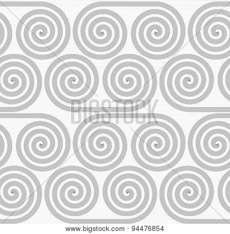 Slim Gray Striped Spiral Rolls