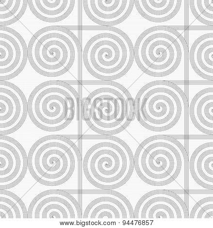 Slim Gray Striped Spirals Crossing