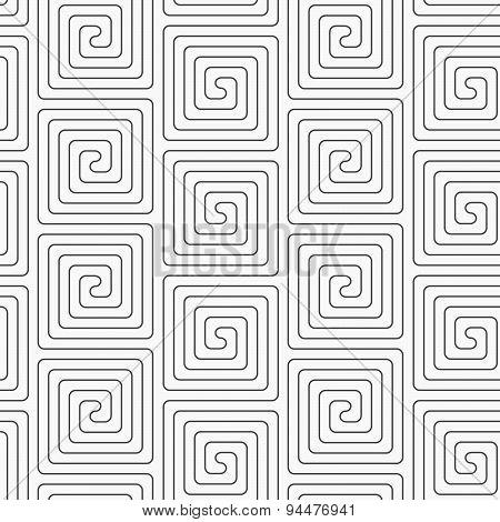Slim Gray Vertical Square Spirals