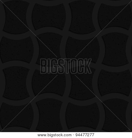 Textured Black Plastic Arched Solid Rectangles