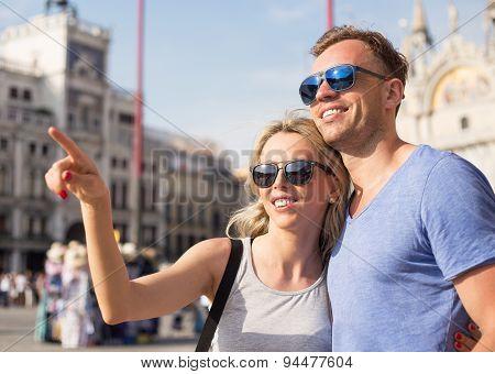 Tourists sightseeing