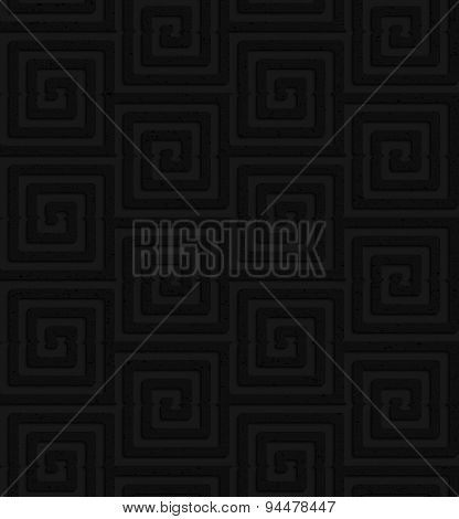 Textured Black Plastic Square Spirals