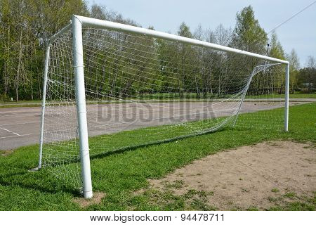 Soccer Goal Outdoor At The Sunny Day