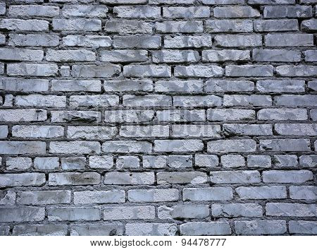 Grey Brick Wall. Picture Can Be Used As A Background