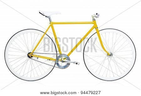 Stylish Hipster Bicycle Isolated On White