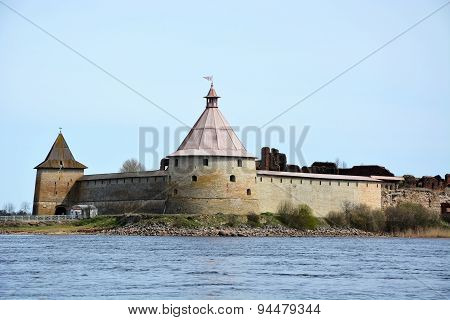 Fortress At Shlisselburg City. Fortress Called Oreshek (nut Fortress)