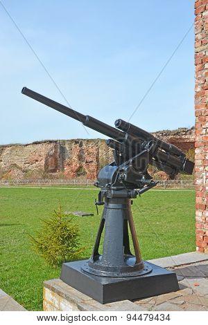 45-mm Semi-automatic Universal Gun 21-k In Oreshek Fortress. Shlisselburg