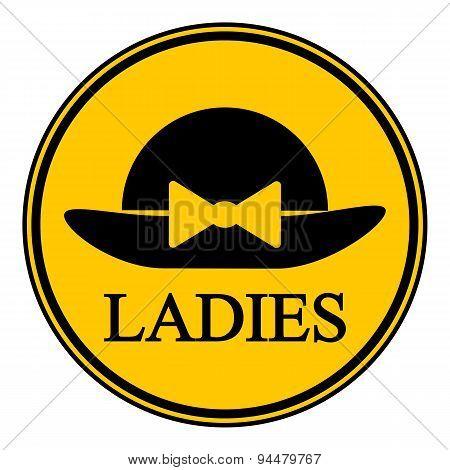 Female Restroom Symbol Button.