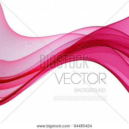 Smooth wave stream line abstract header layout. Vector illustration