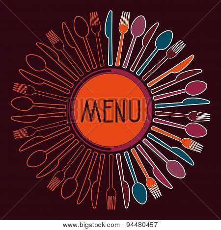 Logo Menu Restaurant Spiral Minimalist
