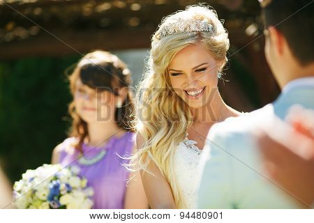 Smiling Young Bride